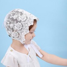 цена на Charming Breathable Baby Girls Sun Hat Summer Cute Solid Color Hollow Out Baby Girls Lace Bowknot Fisherman Hat Cap