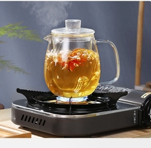цена на 600ml Colorful Heat-resistant glass Teapot With filter,tea pot Can be heated directly on fire Strainer Heat Coffee Pot Kettle