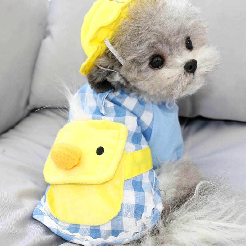 チェック柄犬服フレンチブルドッグペットシャツ服小中犬幼稚園子犬犬衣装帽子子犬衣装