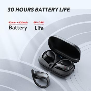 DACOM ATHLETE TWS Bluetooth Earbuds Bass True Wireless Stereo Earphones Sports Headphones Ear Hook for Android iOS Waterproof 5