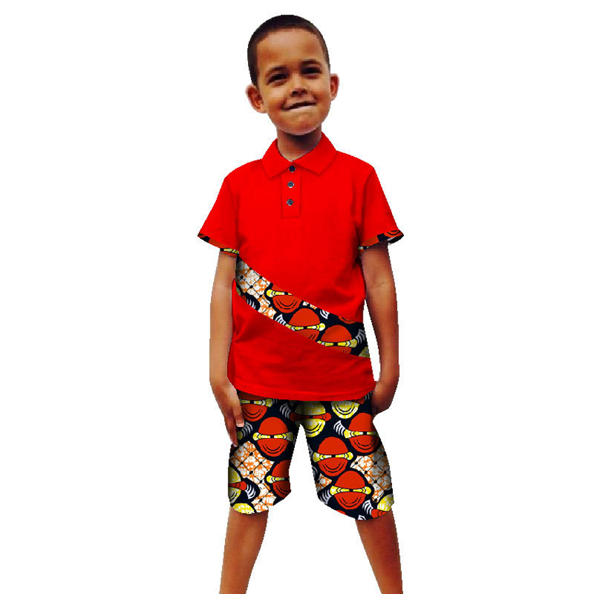 Kids Summer African Clothes for Boy 2020 Print Top Pants Suit Children Bazin Richen Dashiki Robe African Dresses for Women Men