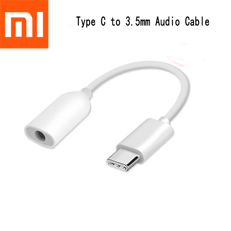 USB 3.1 TYPE C To 3.5MM Earphone Jack Adapter Type-C Audio Cable Converter For Xiaomi Mi 6/7/Mix 2 2S/6X Calling/Remote Control