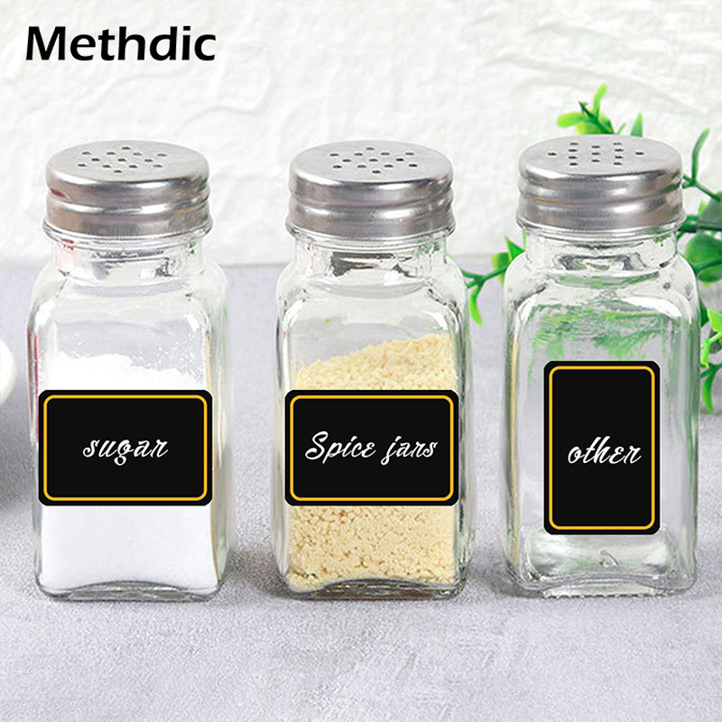 500pcs Home Jars Bottles Tags Blackboard Labels Stickers Spice Jar Label