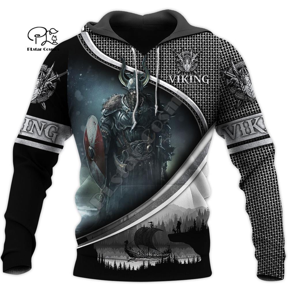 PLstar Cosmos Viking Armor Tattoo Warrior Viking God Odin Symbol NewFashion Tracksuit Harajuku Funny 3Dprint Men/Women Hoodie 13
