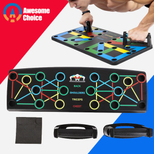 9 in 1 Push Up Board with Instruction Print Body Building Fitness Exercise Tools Men Women Push-up Stands For GYM Body Training(China)