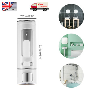Image 4 - 400ML 800ML Wall Mount Soap Dispenser Lotion Pump Shampoo Shower Gel Dispenser Hand Sanitizer Lock Design For Bathroom Kitchen