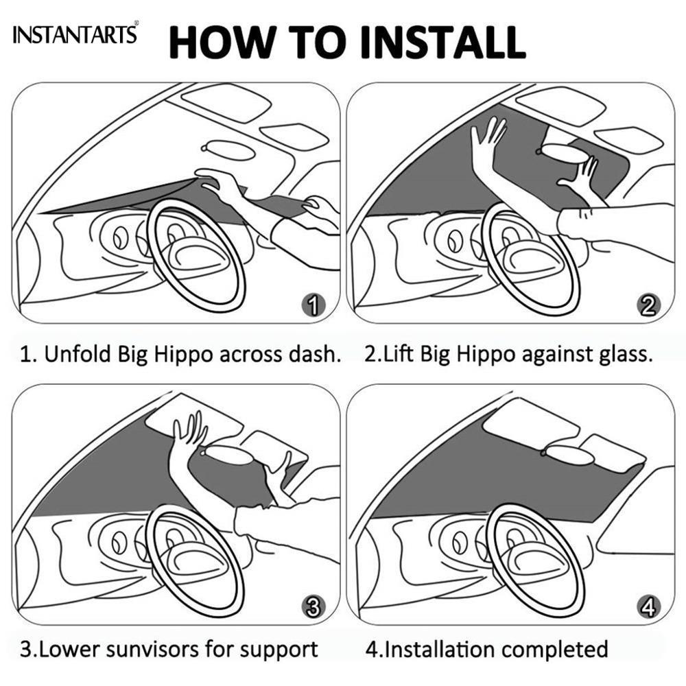Солнцезащитный козырек для лобового стекла instantarts с изображением
