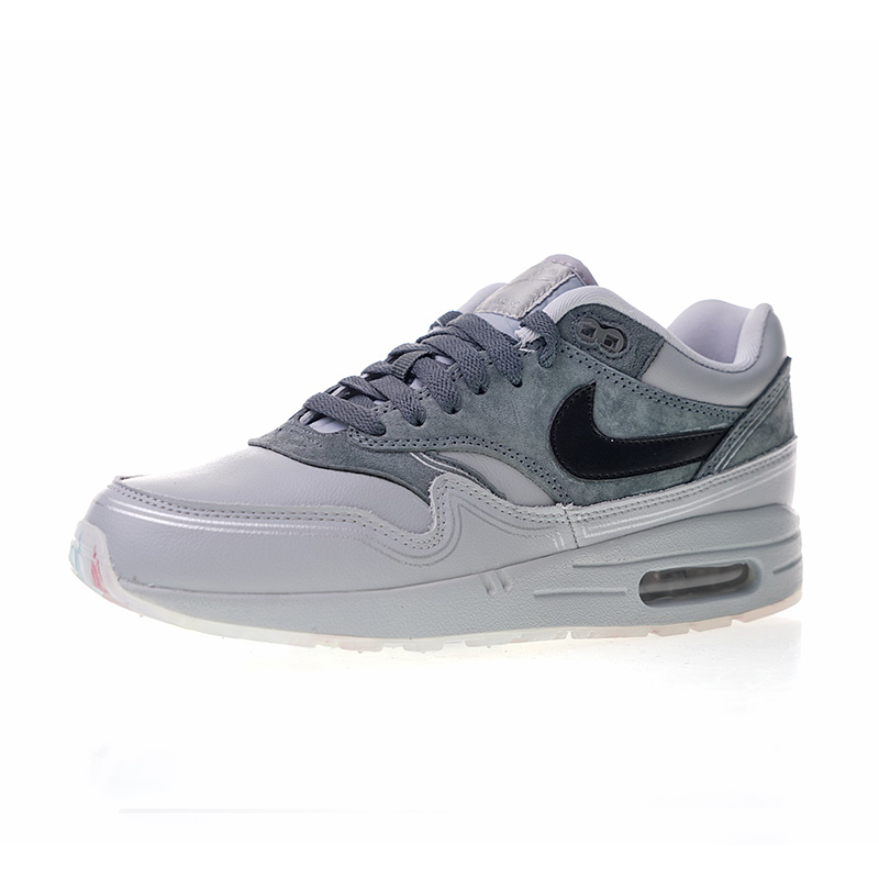 Original Authentic Nike Air Max 1 Pompidou Men's Running Shoes Sport Outdoor Sneakers Athletic Designer Fashion Footwear AV3735