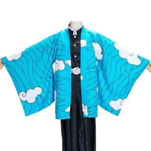 Image 2 - שד סלייר: Kimetsu לא Yaiba mens קאמאדו Tanjirou קוספליי תחפושות קייפ Zenitsu Giyuu קייפ בגדי עבור דברים קטיפה