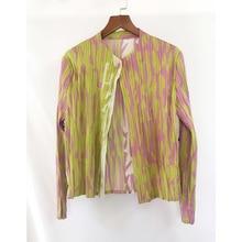 Autumn new Miyake fold print jacket free shipping
