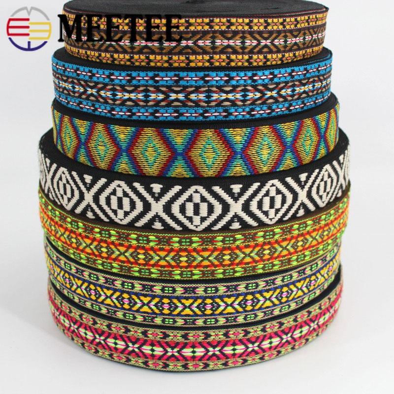 5 meter 38mm Bestickt Jacquard Gurte Ethnische Spitze Bänder Für Tasche Band Sewing Band Bias Binding DIY Bekleidungs Zubehör