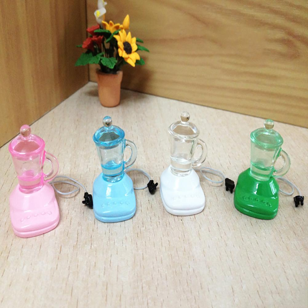 Mini Electric Juicer Resin Model Toy Dollhouse Miniature Decor Accessories Simulation Drink Model Toys For Doll House Decoration