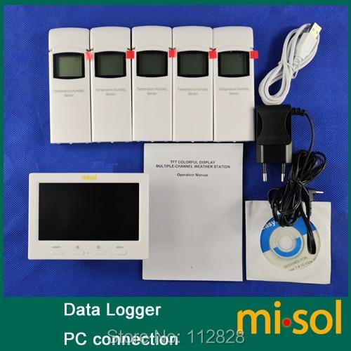Stazione meteorologica wireless con 5 sensori, 5 canali, schermo a - Strumenti di misura - Fotografia 4