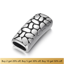 316L Stainless Steel Slider Beads Polished Rectangular 12x6mm Hole Bead Slide Charms Accessories for Jewelry Making