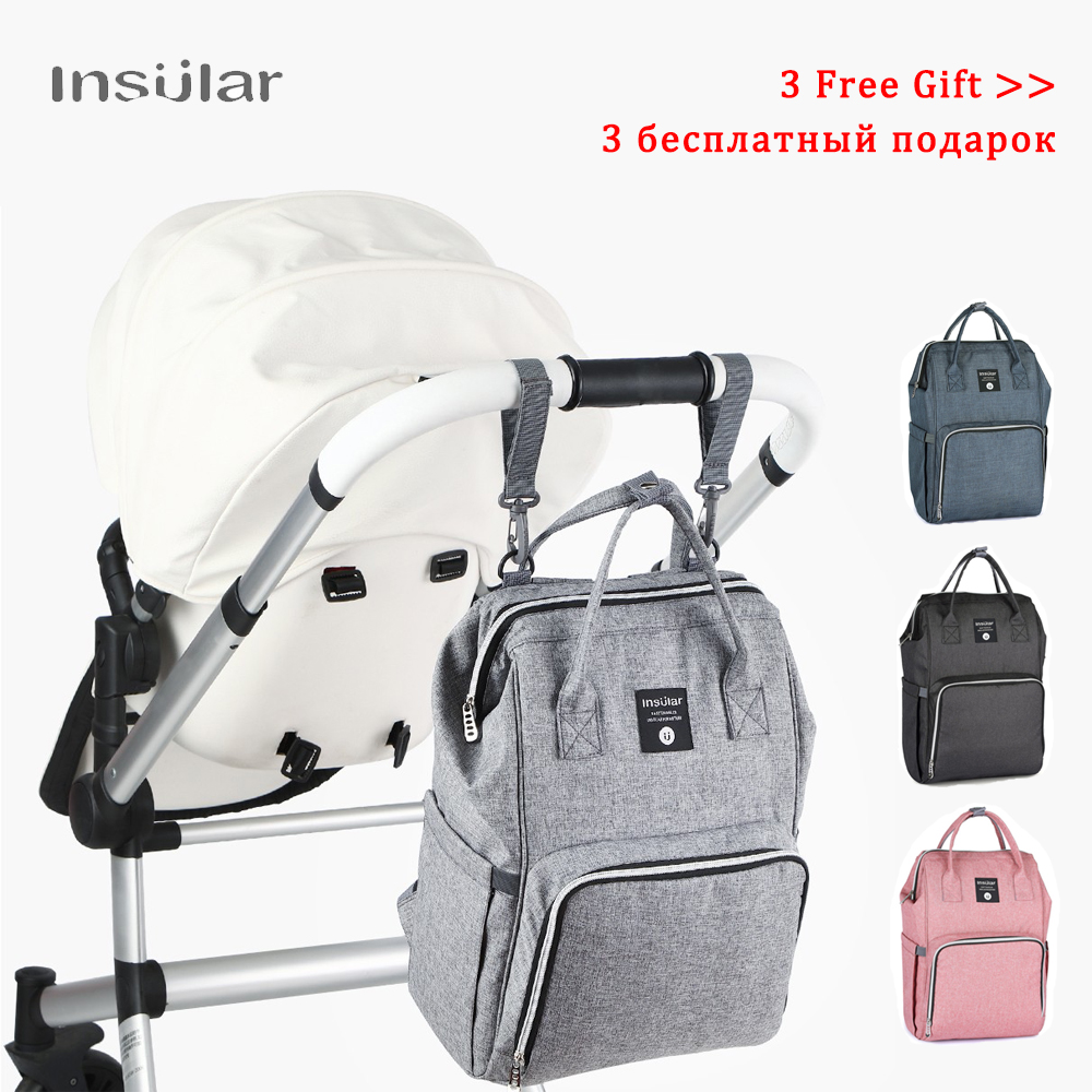 Waterproof Baby Diaper Bags Backpack for Mom Maternity Mummy Bag Large Capacity Nappy Bag for Stroller Travel Gray Zipper|Diaper Bags|   - AliExpress