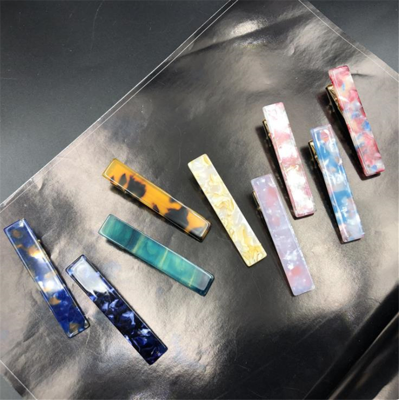 Women Fashion Novel Colorful Hair Clip Acrylic Leopard Geometric Hairpins Japanese Style Sweet Girl Hair Accessories Barrettes