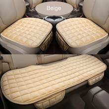 Car Front Rear Universal Seat Cover Winter Warm Black Seat Cushion Anti-Slip Rear Back Chair Seat Pad For Vehicle Auto Protector(China)