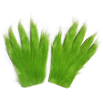 1 Pair Gloves Grinch Plush Glove Christmas Halloween Deluxe Party Cosplay Props XMAS Christmas Decoration Gloves 1