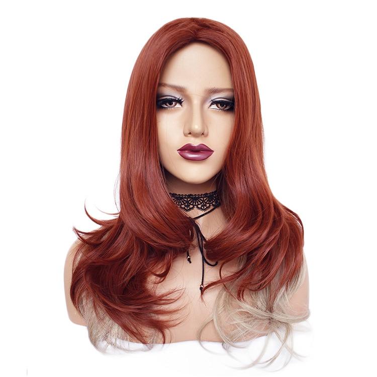 Fast Black Widow Costume Wig Child Kids Girls Avengers Redhead Red Hair