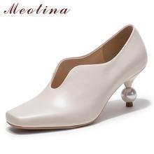 Meotina женские туфли лодочки на высоком каблуке; вечерние каблуке