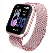 Novo k6 relógio inteligente ip67 à prova dip67 água moda esportes smartwatch freqüência cardíaca esporte lembrete bluetooth pulseira inteligente