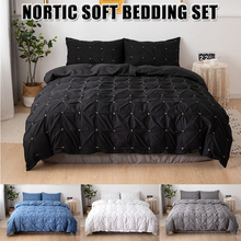 Printed Marble Bedding Set White Black Duvet Cover King Queen Size Quilt Brief Bedclothes Comforter 3Pcs