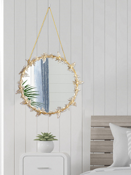 Nordic style Golden Hanging Mirror Butterfly Hanging  Mirror  4