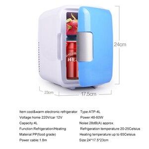 Image 5 - Мини Автомобильный холодильник с морозильной камерой двойного назначения 4L для домашнего использования в автомобиле, холодильники, Ультра тихий низкий уровень шума, охлаждающий холодильник