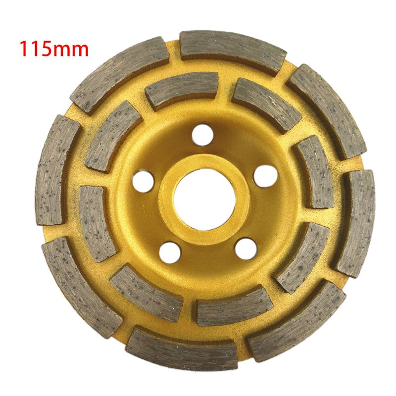 "4/"" 100mm Diamond Segment Grinding Wheel Cup Disc Grinder Concrete Granite Stone"