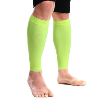 S06 Knitted Compression Crus Supporter-One-Pair Package (Fluorescence Green)