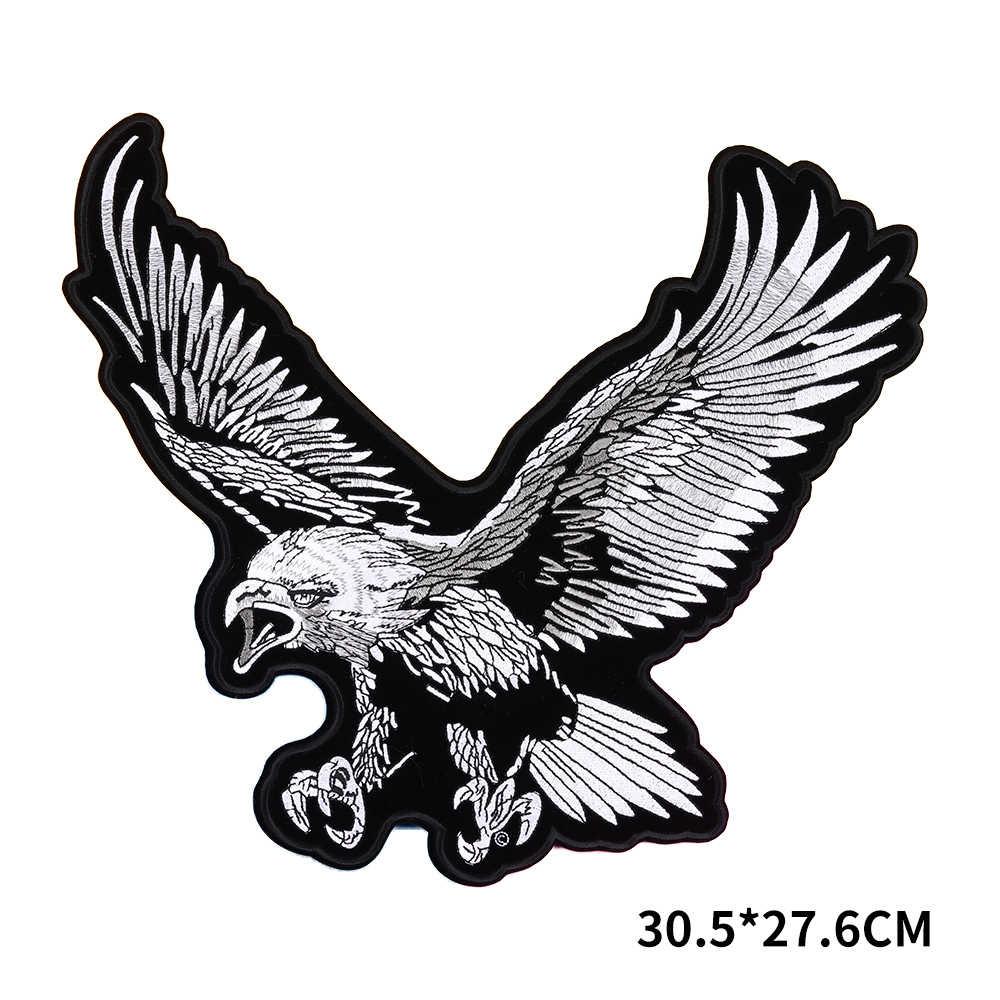 검은 용감한 독수리 패치 헝겊 의류 자수 재킷 패치 바이커 패치 의류 액세서리 배지에 대한 스티커