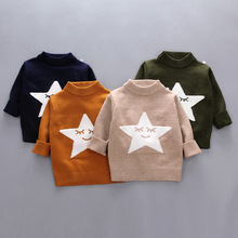 Five-point Star Girls Sweaters Pullover Christmas Kids Clothes Winter Warm Boys Jacket Toddler Sweater 18M-5 Years Old Tops 18m 3 catimini year old girls jacket page 5 page 2
