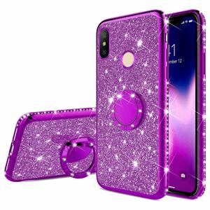 Finger Ring Diamond Soft Case For Xiaomi Redmi 7 7A 6A Note 5 7 K20 Pro Mi 9 9T 8 SE Lite A2 A3 Mi A3 CC9 Glitter Plating Cover(China)