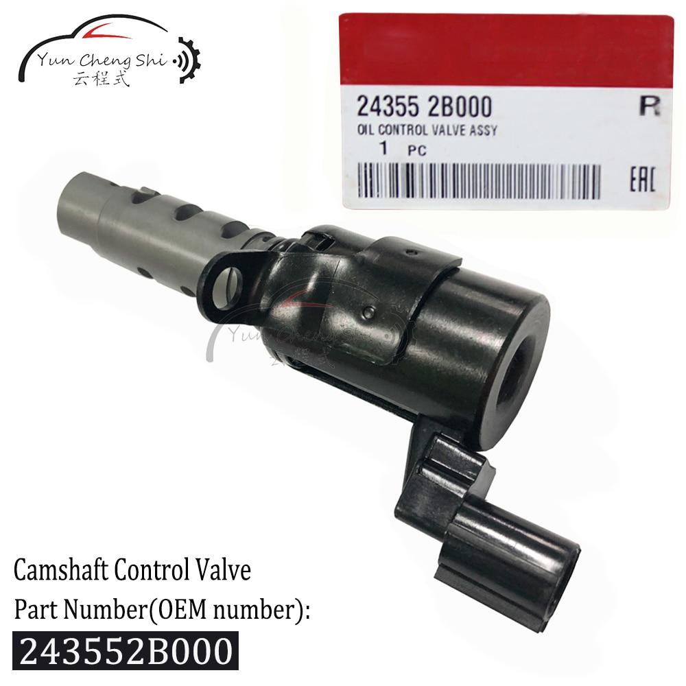 Oil Camshaft Control Valve VVT Variable Timing Solenoid 243552B000 24355-2B000 For Hyundai Elantra XD Kia Motor Soul