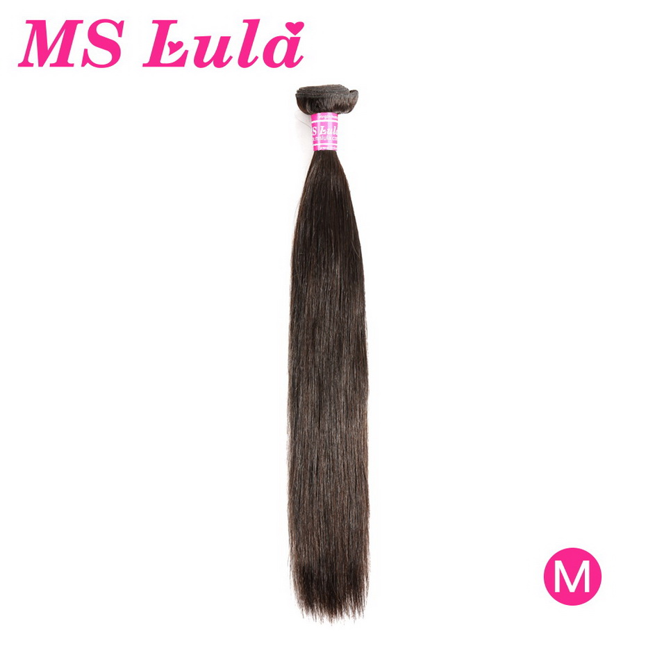MS Lula Brazilian Human Remy Hair Straight Bundles Middle Ratio Nature Color Pre Plucked With Baby Hair8-30Inchs For Black Women