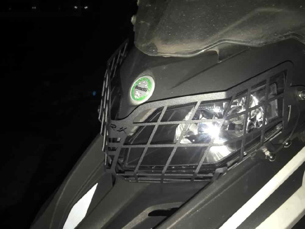 Adeeing Motorcycle Modification Headlamp Shade Net Headlight Grille Guard Cover Protector Black Color for Benelli TRK502X 2018