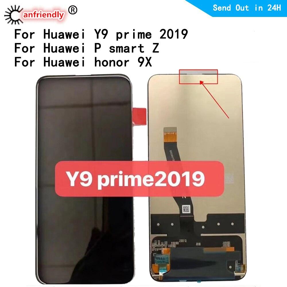 6.59 ''LCD pour Huawei honour 9X/Y9 Prime (2019) STK-L21L22 LX3/P Smart Z LCD écran tactile écran numériseur assemblée