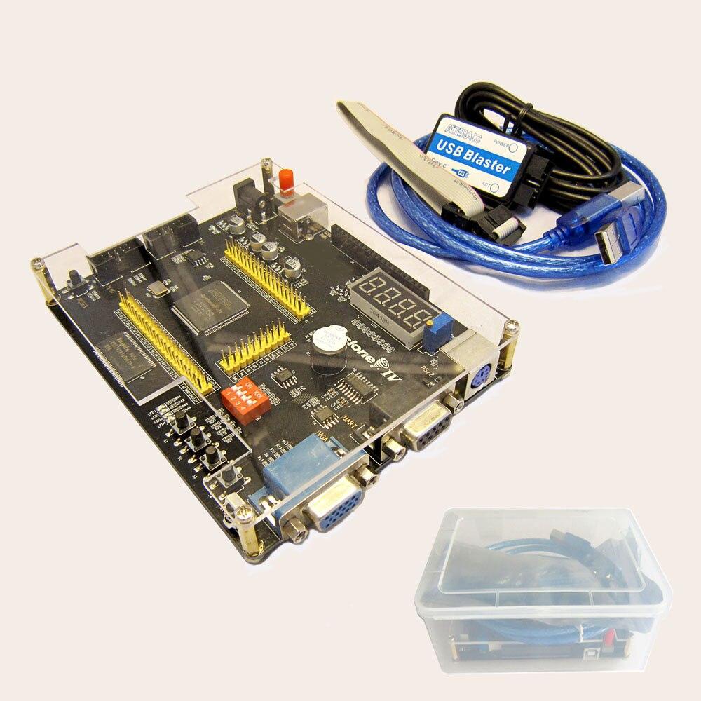 Kit de desenvolvimento bolso portátil altera cyclone iv ep4ce6  ep4ce10 fpga placa desenvolvimento altera niosii fpga   usb  blasterCircuitos integrados