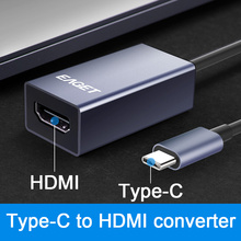 EAGET CH02 konwerter type-c na HDMI kabel USB C HDMI do MacBook Huawei Mate 30 Pro Adapter USB-C HDMI USB type-c HDMI 4K HD tanie tanio Type-C to HDMI converter