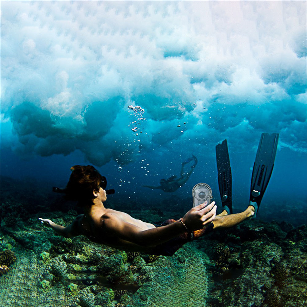 Boîtier de plongée étanche pour caméra Ricoh Theta S/V/SC caméra panoramique 360 ° - 4