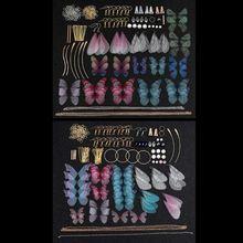 Handmade Large Pack Beautiful Fairy Tale Dragonfly Butterflies Wing Earrings Cicada Wing Charm Earrings Jewelry Making