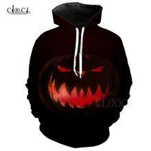 Halloween Pumpkin Printed Hoodie For Men Women 3D Anime Evil Pumpkin Sweatshirts Hoodies Casual Streetwear Hooded Tops Pullover