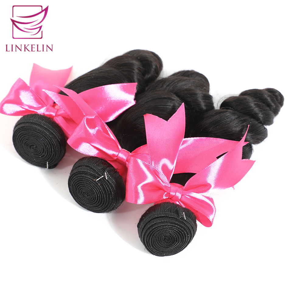 LINKELIN HAIR Peruvian Loose Wave 100% Human Hair Bundles Remy Hair Extension Nature Color Free Shipping Can Be Dyed