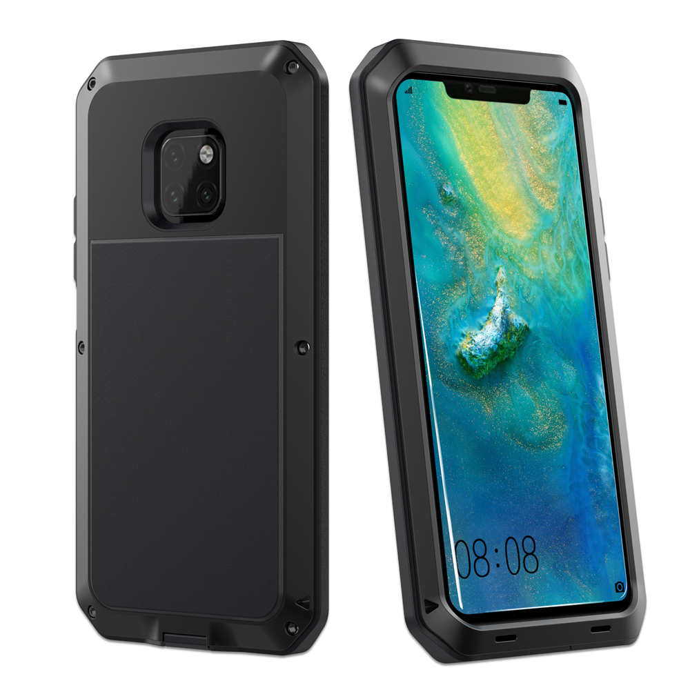 Heavy Duty Protection Doom armor Metal Aluminum phone Case for <font><b>Huawei</b></font> <font><b>Mate</b></font> <font><b>20</b></font> <font><b>Pro</b></font> P30 <font><b>Pro</b></font> Cases Shockproof Dustproof <font><b>Cover</b></font> image