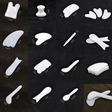 Белый мрамор натуральный Нефритовый камень guasha Массажная