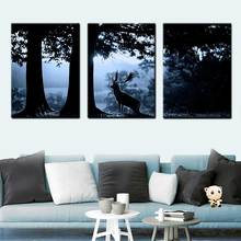 Modern Nordic Home Decoration Canvas Painting Fawn Forest Poster Art Print Bedroom Decor wall pictures for living room