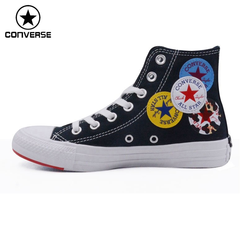 US $70.34 35% OFF|classic Original Converse all star canvas shoes 2 color high classic Skateboarding men and women's sneakers shoes|shoe room