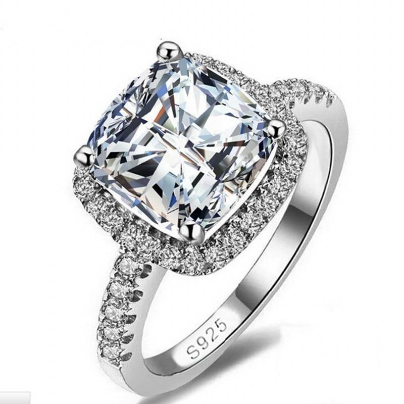 90% de réduction amoureux Lab diamant promesse bague 925 en argent Sterling fiançailles bague de mariage anneaux pour femmes hommes Fine fête bijoux cadeau 6