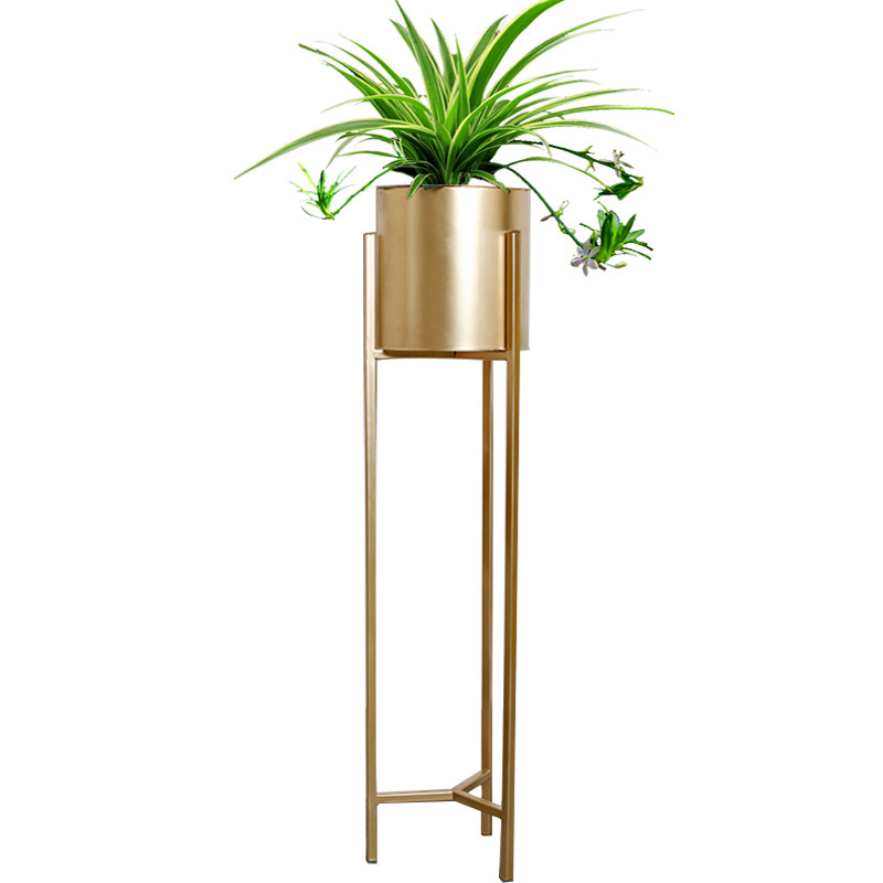 Metal Flower Pot Wrought Iron Flower Stand Home Decoration Flower Arrangement Potted Floor Stand  metal shelf