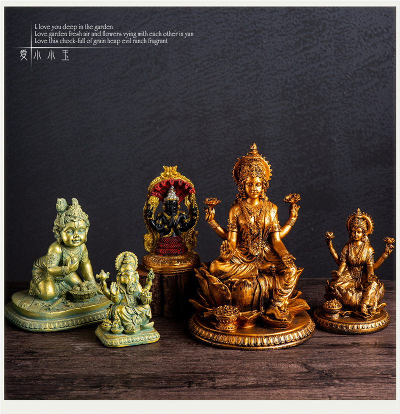 Hindu Gods Full Series Vishnu Shiva Auspicious Days Female Snow Mountain Goddess Monkey God Hakuman Ornaments Home Decor